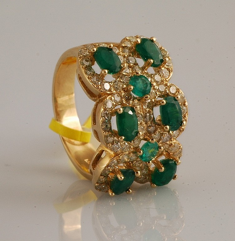 5.74ct Emerald and Diamond Ring
