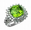 5.98ct Peridot & 1.76ct Diamond Ring 18K