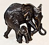 Donna Mason Adams Signed Bronze Elephant Sculpture