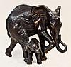 Donna Mason Adams Signed Bronze Elephant Sculpture