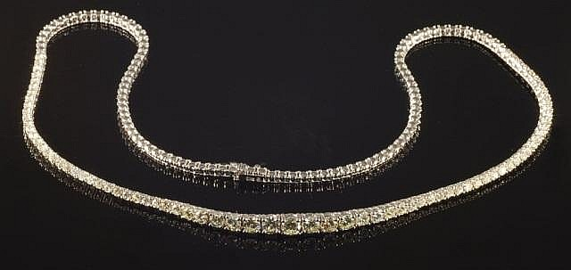 5.13 Carat Diamond Necklace in 18K White Gold