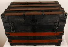 Vintage Omaha Trunk Factory  Wooden Trunk