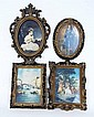 Lot of 4 Vintage Ornate Framed Prints