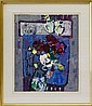 Flowers in Blue by Zvi Mairovich Signed 31