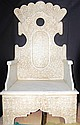 Antique White Marble Throne