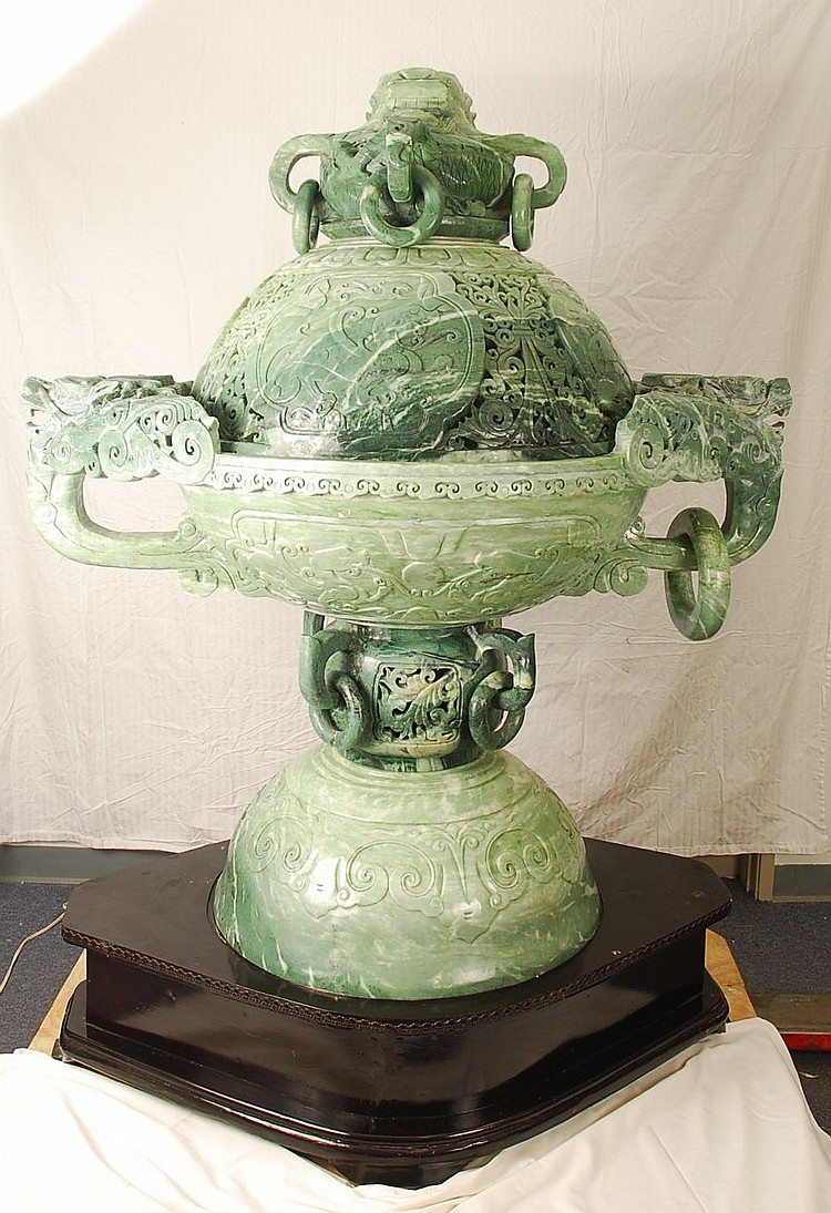 Monumental Henan Jade Incense Burner
