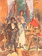 KOROVIN, KONSTANTIN 1861-1939 Twilight, Musician and Ballerina signed and dated 1926, oil on canvas, 85 by 65 cm. Provenance: Fedor Kosloff , Konstantin Korovin, Click for value