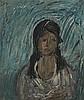 DREVIN, ALEXANDER - (1889-1938)  Portrait of a Woman, Aleksandr Drevin, Click for value