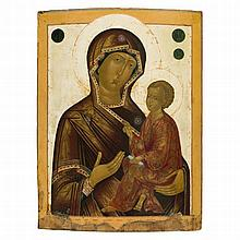 THE TIKHVINSKAYA MOTHER OF GOD -   RUSSIAN, LATE 18TH CENTURY