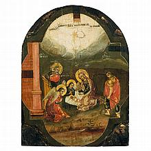 THE NATIVITY OF CHRIST -   RUSSIAN, LATE 18TH CENTURY