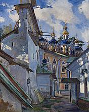 VINOGRADOV, SERGEI  (1869-1938)  The Belfry and Cupola of the Uspensky Cathedral of the Pskovo-Pechersky Monastery
