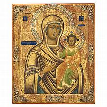 *THE SMOLENSKAYA MOTHER OF GOD -   RUSSIAN, MSTERA, LATE 19TH CENTURY