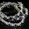 43ct. Sapphire & Diamond Necklace in White Gold