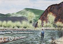 Harry Worthman (Am. 1909-1989), Fisherman