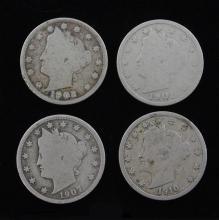 Four V Nickels