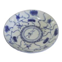Small Blue and White Porcelain Plate