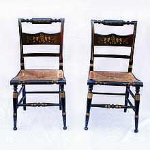 Pair of Two Hitchcock Stenciled Chairs
