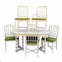 Vintage Drexel Heritage Table w/ 6 Matching Chairs