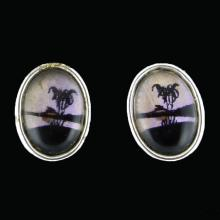 Painted Butterfly Wing Earrings