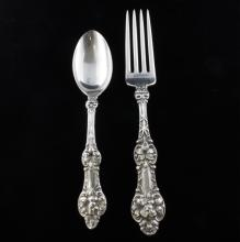 Alvin Old Orange Blossom Lunch Fork and Teaspoon