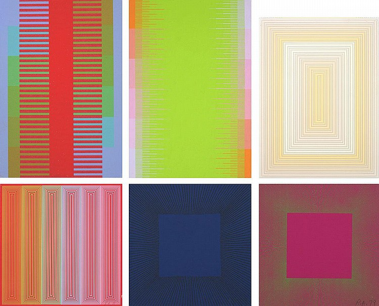 Richard Anuszkiewicz, Untitled (set of 6) acrylic