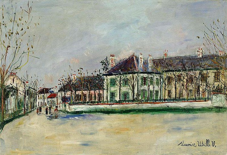 Maurice Utrillo, Rue De Banlieue oil on canvas,