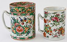 Two Chinese export porcelain famille rose