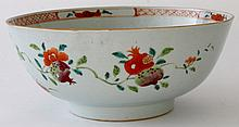 A Chinese Famille rose, export porcelain bowl,