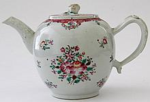A Chinese famille rose export porcelain teapot,