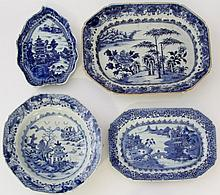 A collection of Chinese blue and white Qianlong