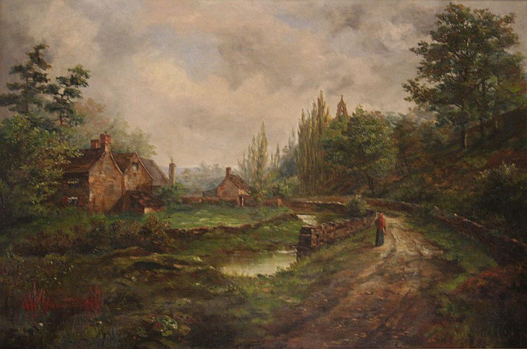 Albert Edward Boler (1865-1938); rural river