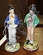A matched pair of Staffordshire Figures of Gin and Water both late 19th century,