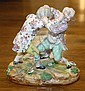 A Meissen style figurine of two boys in a tussle fourth quarter of the 19th century,
