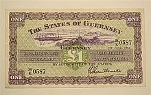 A States of Guernsey one pound banknote dated 1st June 1963, No. 34/K 0587, very fine.