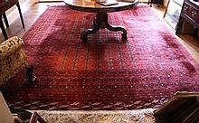 A large red ground Princess pattern Bokhara carpet mid-20th century,