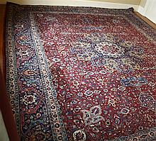 A large Persian carpet mid-20th century, the central,