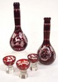 5pc Bohemian Cut Liquor Set