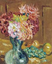 **Louis Valtat 1869-1952 (French) Vase de chrysanthèmes, c.1901 oil on canvas