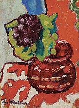 **Louis Valtat 1869-1952 (French) Fleurs oil on panel