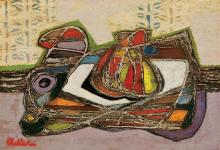 Jankel Adler 1895-1949 (Polish) Abstract composition oil on board