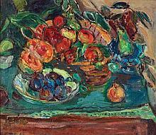 **Michel Kikoine 1892-1968 (Belarusian, French) Nature morte, fleurs et fruits oil on canvas