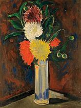 **Henri Epstein 1892-1944 (Polish) Still life with flowers oil on canvas