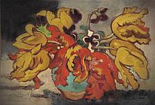 **Louis Valtat 1869-1952 (French) Tulipes dans un vase vert, c.1910 oil on canvas