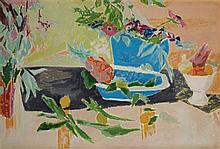 **Jean Jules Louis Cavaillטs 1901-1977 (French) Nature morte aux fruits oil on canvas mounted on panel