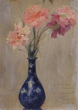 Georges Picard 1857-1946 (French) Flowers in a vase, 1929 oil on board