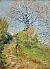 **Henri Jean Guillaume Martin 1860-1943 (French) Saint Cirq, 1922 oil on cardboard, Henri Martin, $5,000
