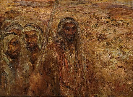 Joseph Budko 1888-1940 (Polish/Israeli) Joseph and his brothers, 1940 oil on canvas
