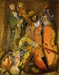 **Mane Katz 1894-1962 (Russian, French) Four musicians oil on canvas