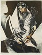 **(After) Marc Chagall 1887-1985 (French, Russian) Le rabbin, c. 1920 color etching on Japanese paper
