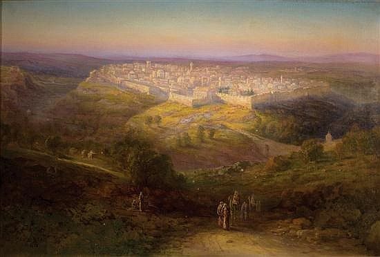 **Samuel Lawson Booth 1836-1926 (British) View of Jerusalem, 1905 oil on canvas